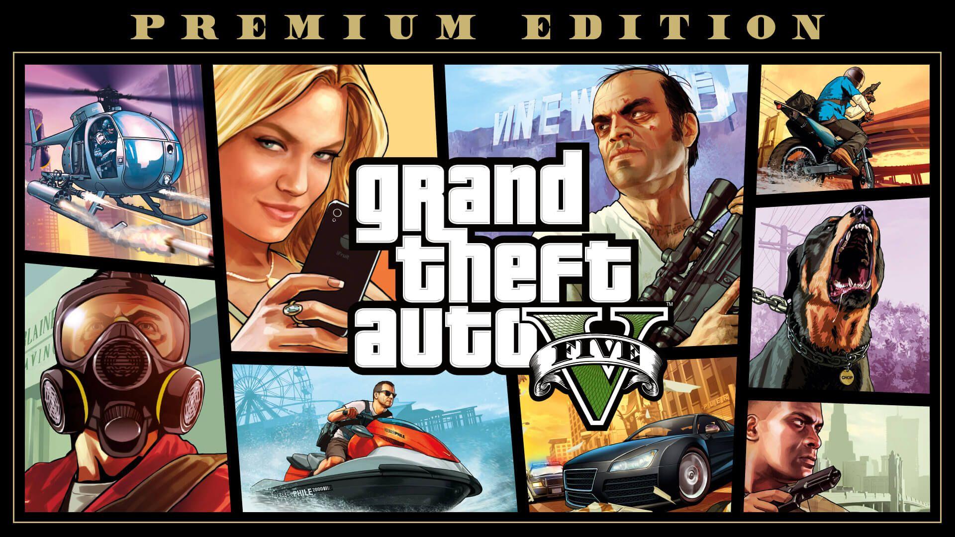 GTA V cover poster